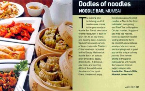 Noodle Bar in Jade Magazine, pg 125